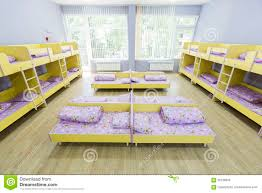 Small Bed by Modern Kindergarten Bedroom With Small Beds Stock Photo Image