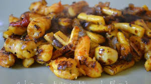cuisiner des calamars calamars et crevettes à la plancha recette par kaderick