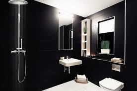 Modern Luxury Bathroom Designs Black Gray Color Schemes - Bathroom designs black and white