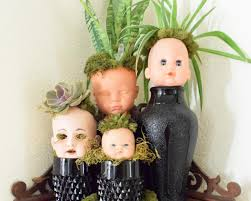 how to make creepy doll head planters for halloween how tos diy
