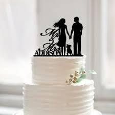 silhouette cake topper with dog by laser design shop all
