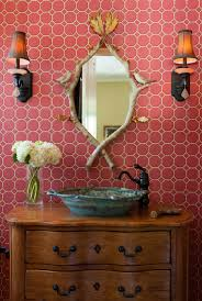 Pink Powder Room Unique And Unusual Style For Your Powder Room