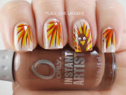 nail for thanksgiving thanksgiving nails turkey fall colored feathers stylefrizz
