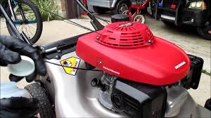how to do an oil change on most honda lawn mower models youtube