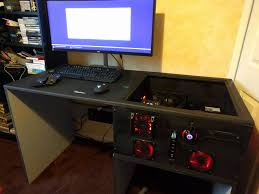 Desk For Pc Gaming A Gaming Pc Built Into A Desk