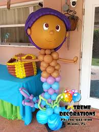 Bubble Guppies Decorations Party Decorations Miami Balloon Sculptures