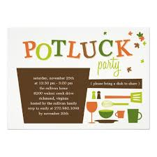 thanksgiving potluck invitation zazzle