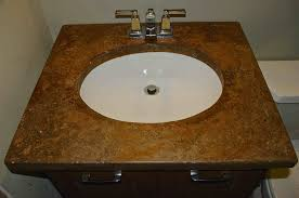 Cement Bathroom Vanity Top Single Bathroom Vanity With Square Brown Marble Top And Rounde