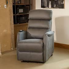 fauteuil relax releveur fauteuil de relaxation gris softy univers du salon tousmesmeubles