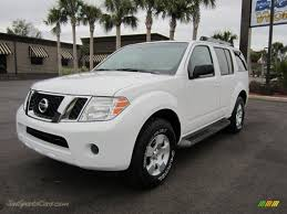 nissan 2008 pathfinder 2008 nissan pathfinder s in avalanche white 622781 jax sports
