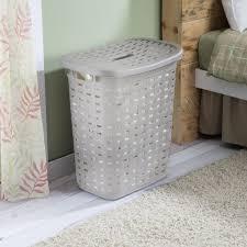 sterilite wheeled laundry hamper sterilite weave plastic laundry hamper grey kitchen stuff plus