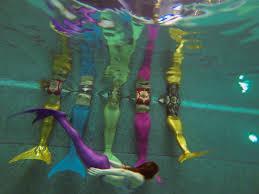mermaid fitness swimming in russia