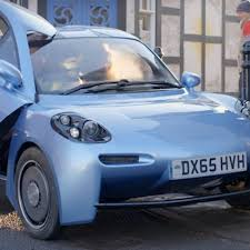 teal blue car riversimple uk based hydrogen fuel cell eco car company