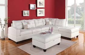 bonded leather sectional sofa 51175 3pcs kiva white bonded leather reversal sectional sofa set