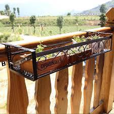 fr007 flower rack balcony corridor railing parapet hanging plant