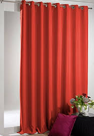 Terracotta Blackout Curtains Modern And Gently Falling Orange Shade Orange Terracotta