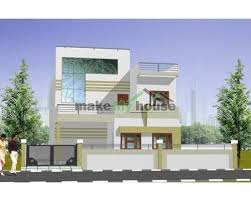 my house plan floor plan with elevation designed by make my house indore