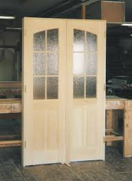 Solid Wood Interior French Doors - custom made interior solid wood doors french arch top panel