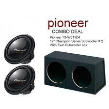 pioneer photo box pioneer ts w311d4 12 champion sub x2 sub box