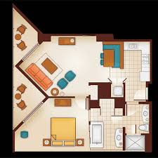 1 bedroom floor plan one bedroom villa aulani hawaii resort spa