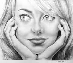 pencil drawing of emma stone by rachbeth on deviantart