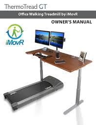 Computer Desk Treadmill Thermotread Gt Office Treadmill Owner S Manual