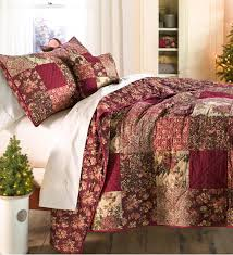 king cranberry floral patchwork quilt set beautiful bedrooms