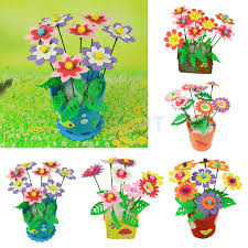 aliexpress com buy diy artificial eva flower pot kids handmade
