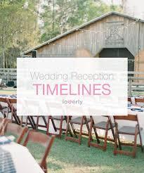 Simple Wedding Planning 3 Sample Wedding Reception Timelines Loverly Wedding Planning