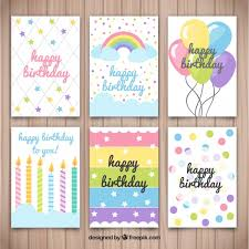 several birthday cards with nice designs vector free download
