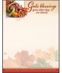 god s blessings thanksgiving letterhead scrapbook paper stationary