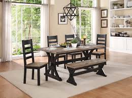 homelegance north port dining set two tone black brown 5045 72