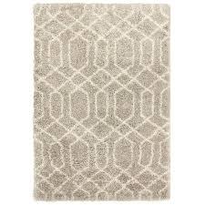 Area Rug 7x10 Shop Carpet Deco Loft Shag 7x10 Beige Ironwork Beige Indoor