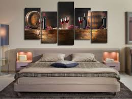 Modern Art Home Decor Wine Barrel Wall Decor Hd Printed Red Wine Painting Modern Home