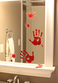 bird decorations for home bloody handprint