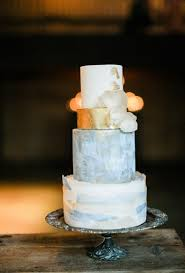 metallic wedding cakes brides