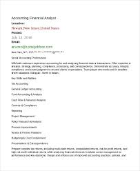 Compliance Analyst Resume Sample by Financial Analyst Resume Sample Berathen Com Financial Analyst