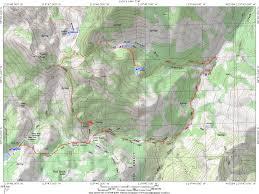Desolation Wilderness Map Carson Iceberg Wilderness