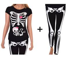 pregnant skeleton with baby halloween true maternity fit
