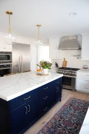 navy blue kitchen island ideas kitchen remodel before and after pictures of our 1987