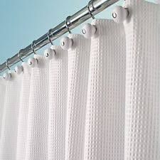 Shower Curtains White Fabric Solid Shower Curtains Ebay
