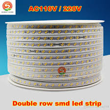 50m 110v 220v double row smd 5630 5730 3014 2835 led strips fita