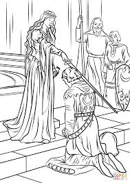 medieval princess coloring page free printable coloring pages