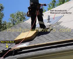 Rubber Roofing Material Lowes by How To Repair A Leaky Roof Vent Pipe Flashing New Vent Boot