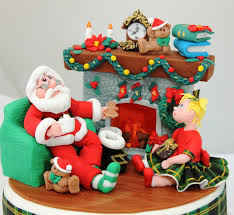 Christmas Cake Decorations Santa by Christmas In July American Cake Decorating