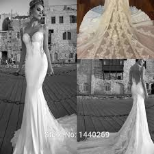wedding dresses without straps the shoulder mermaid wedding dress with