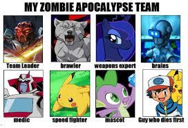 Zombie Team Meme - my zombie apocalypse team meme by taibu kettu on deviantart