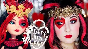 lizzie hearts ever after high makeup tutorial youtube