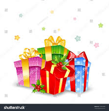 boxes with bows set colorful gift boxes bows stock illustration 116953888