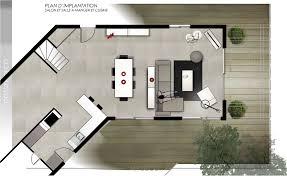 plan implantation cuisine plan de cuisine ouverte sur salle a manger image6 choosewell co